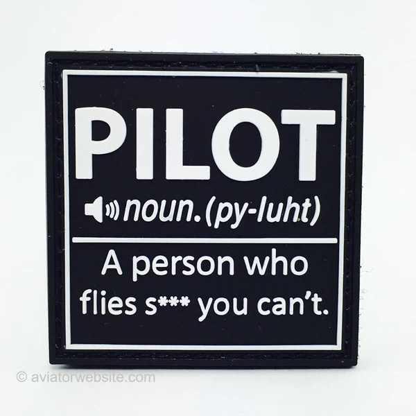 Definition Of PILOT PVC Morale Patch AVIATORwebsite