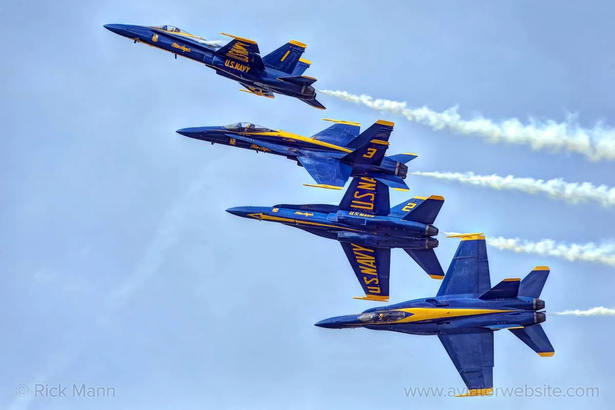 "Print ""blue Angels"" Rick Mann Aviatorwebsite"