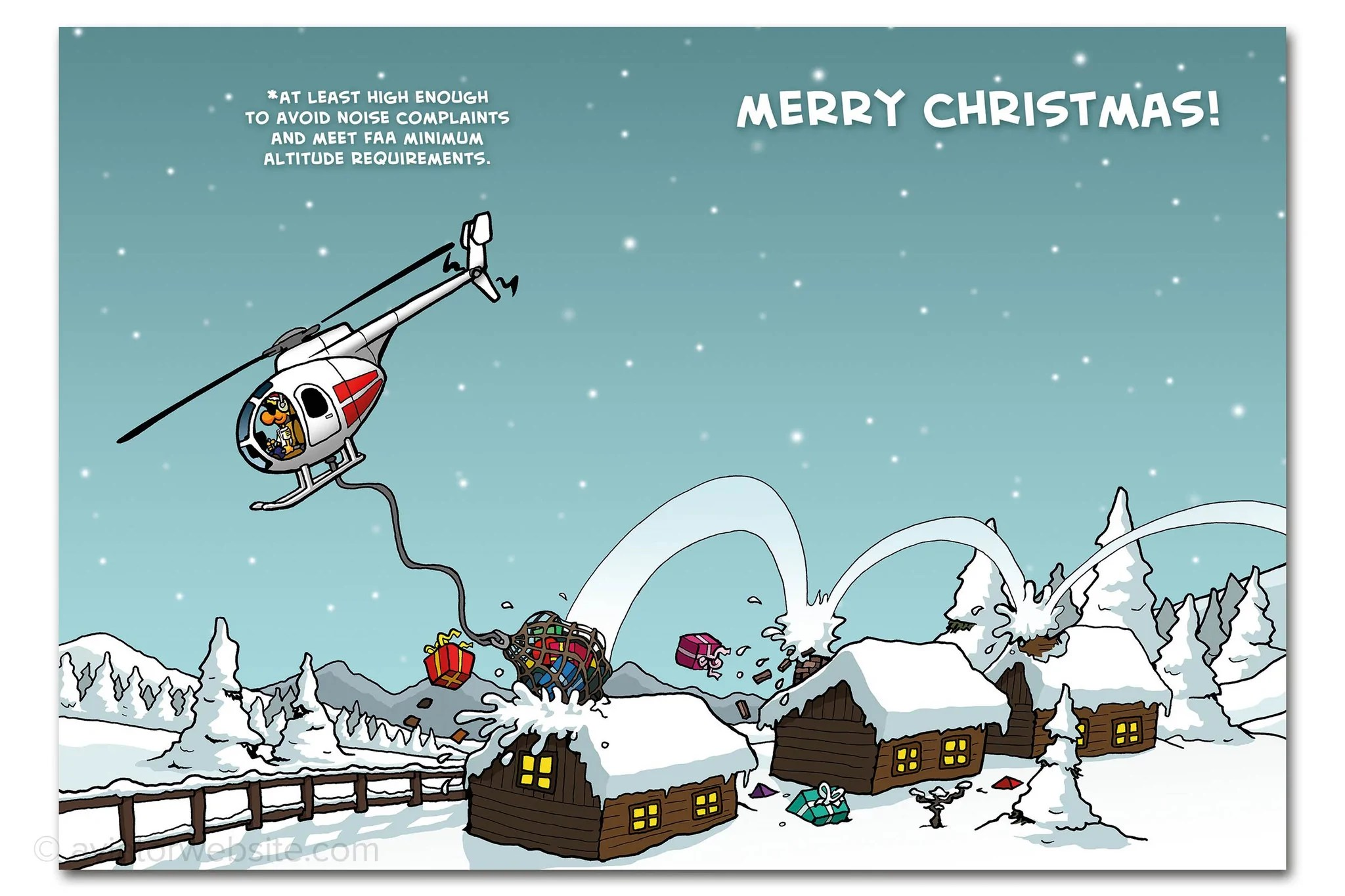 Christmas Card Helicopter Christmas Chicken Wings 10