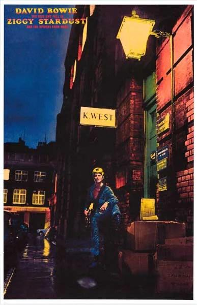 David Bowie Ziggy Stardust Album Cover Poster 11x17