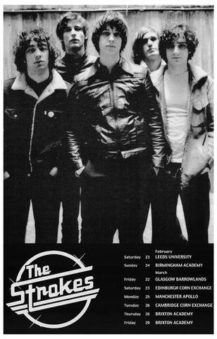 the strokes uk tour poster 11x17