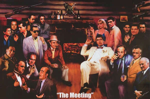 Broadway Quotes Wallpaper The Meeting Mafia Movie Icons Poster 24x36 Bananaroad