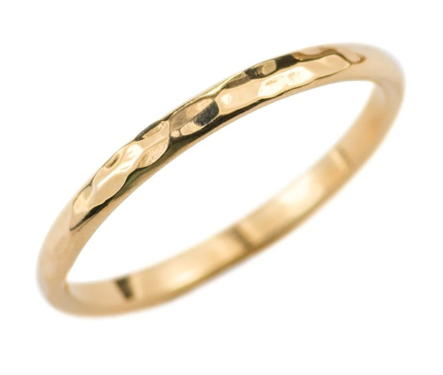 Mm Wide X  Mm Thick K Yellow Gold Half Round Wedding Band