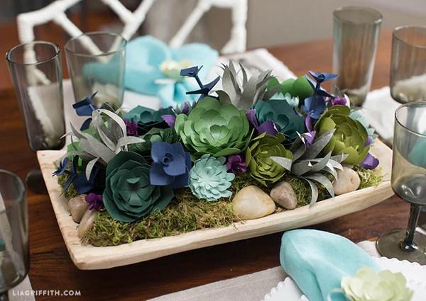 Lia Griffith Paper Succulent Center Piece Kit My Minds