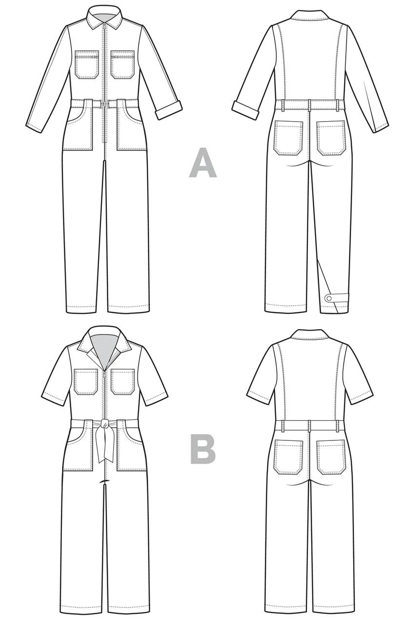Suit Pattern : pattern, Blanca, Flight, Boiler, Pattern, Coveralls, Closet, Patterns