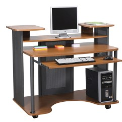 Desk Chair Groupon Wedding Covers Scarborough Black Computer Desks For Home Wood Pc