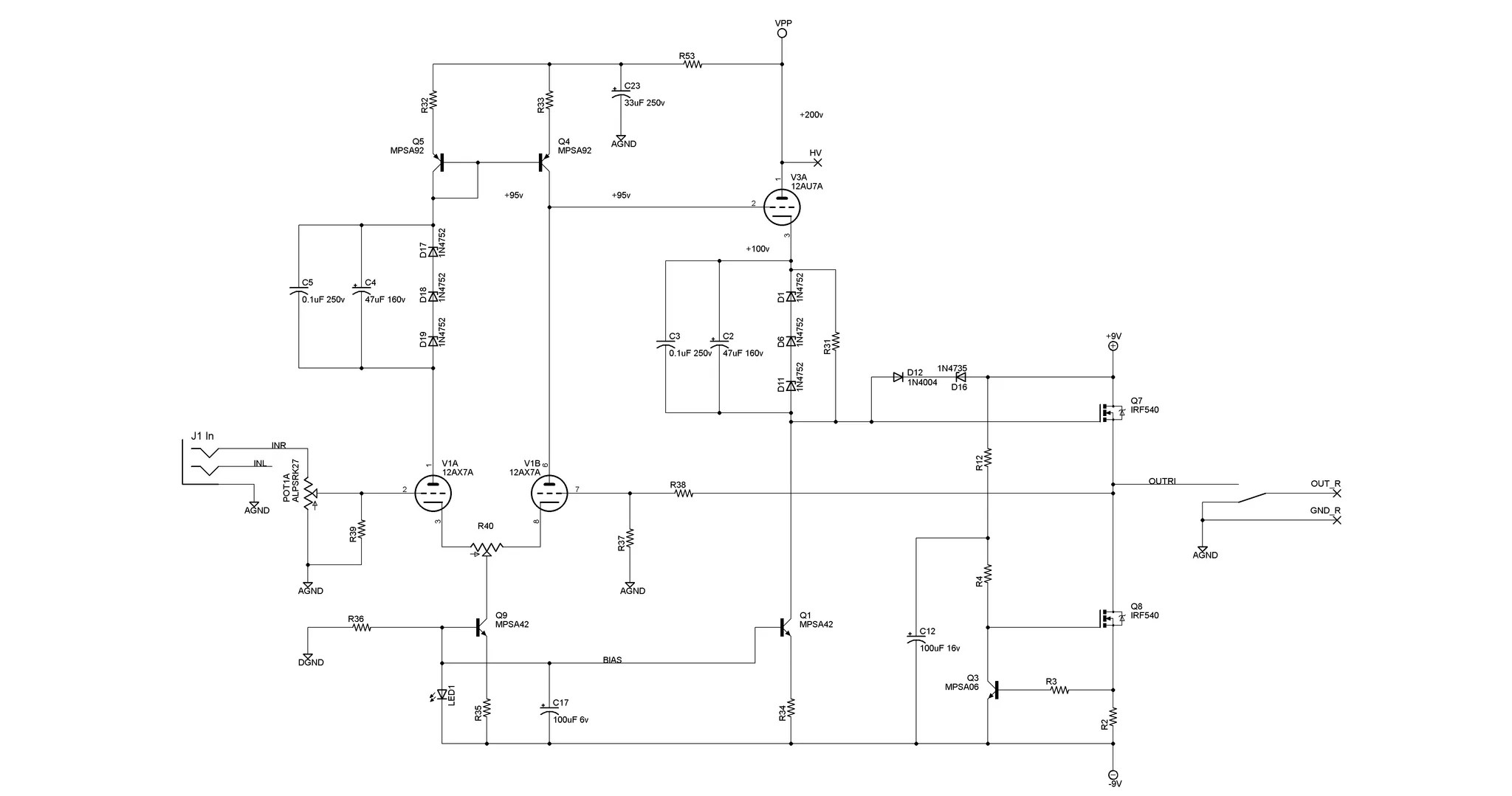 hight resolution of direct coupled tube headphone amp tavish design hybrid headphone amplifier circuit diagram