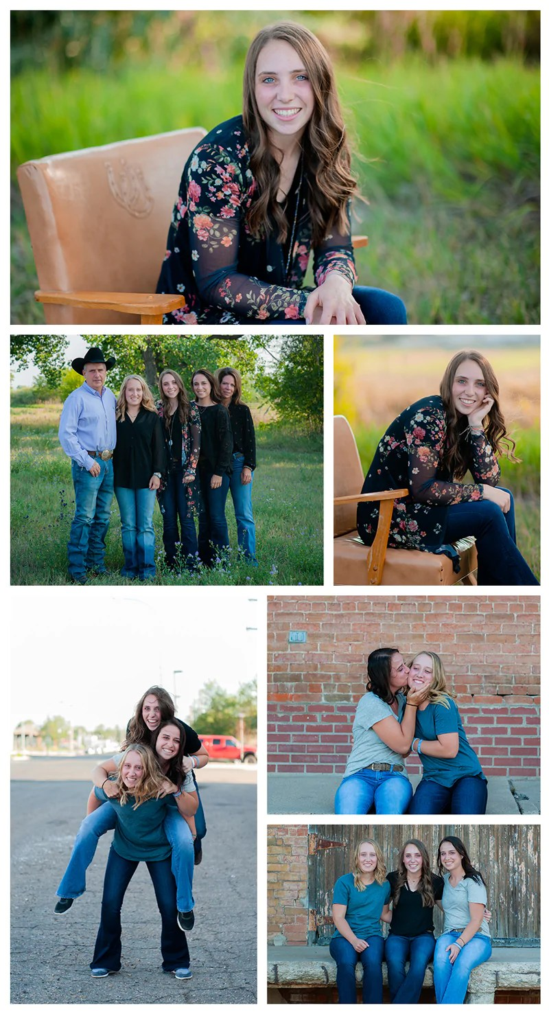 Senior girls livestock photo session