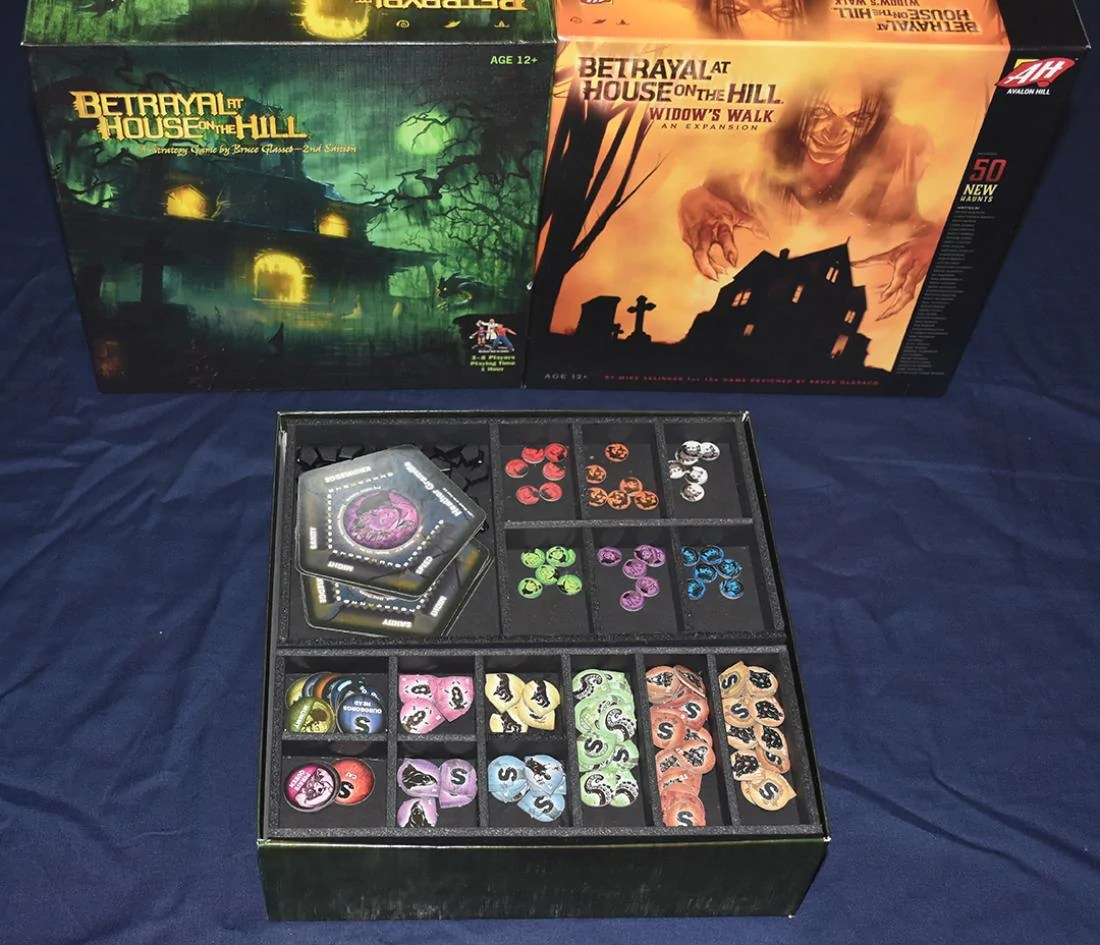 Betrayal at the House™ on the Hill Foamcore Insert (pre-assembled)   Top Shelf Gamer   Upgrades and Accessories for your favorite Tabletop Games