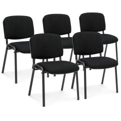 Office Conference Room Chairs Bedroom Hanging Chair Uk Set Of 5 Heavy Duty Black Best Choice Products