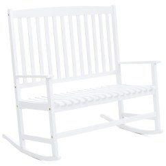 Rocking Chair White Outdoor Swing Dwg 2 Person Best Choice Products