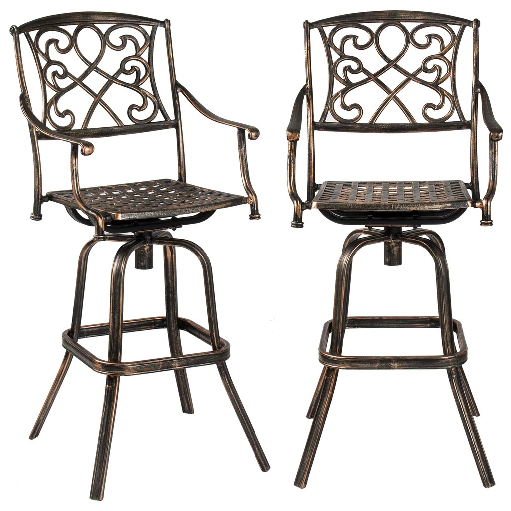 patio bistro table and chairs restoration hardware aviator chair best choice products outdoor 3 piece cast aluminum