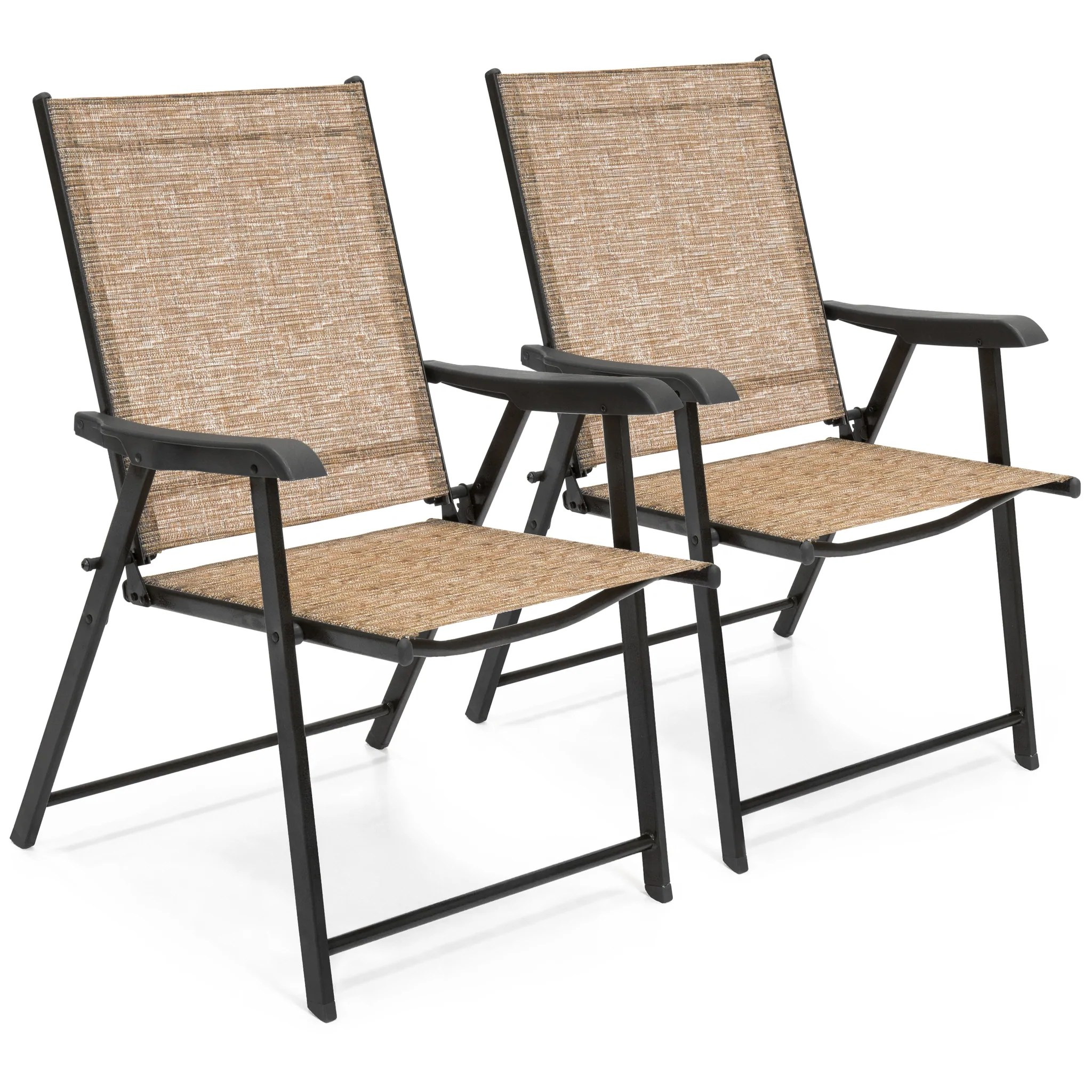 sling back patio chairs chair covers rental vancouver set of 2 folding brown  best choice