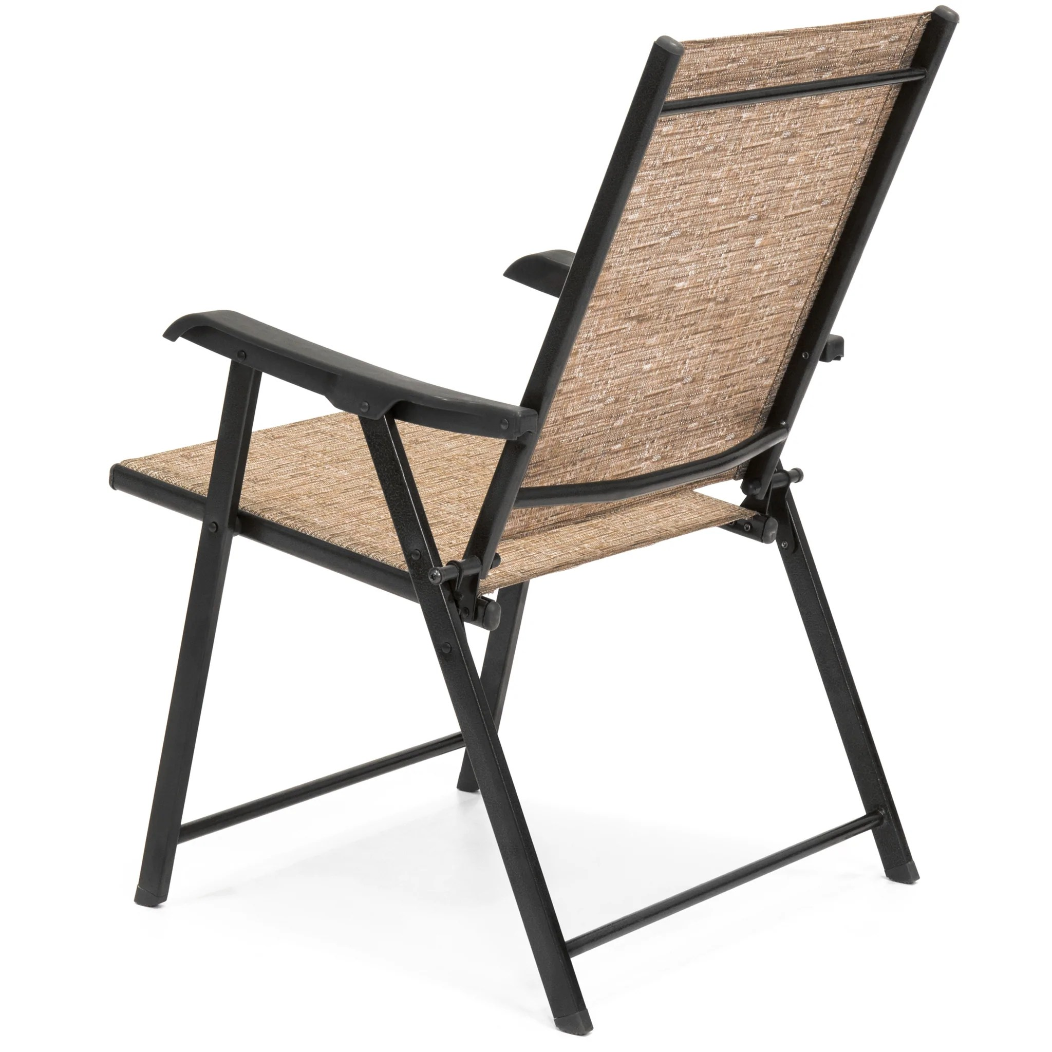 folding sling chair canada xbox one racing set of 2 back chairs brown  best choice
