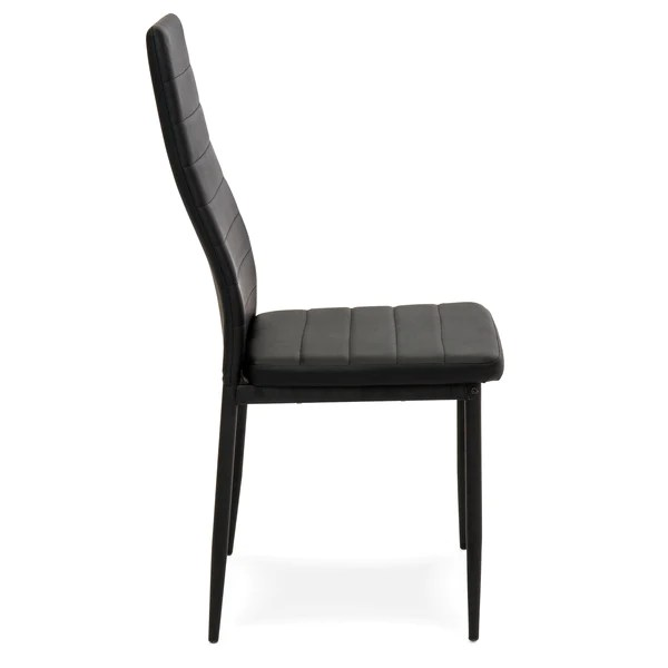 faux leather dining chairs chair massage san antonio set of 4 black best choice products