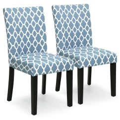 Dining Chairs Fabric Kendrick Sleeper Chair And A Half Set Of 2 Mid Century Modern Parson Blue