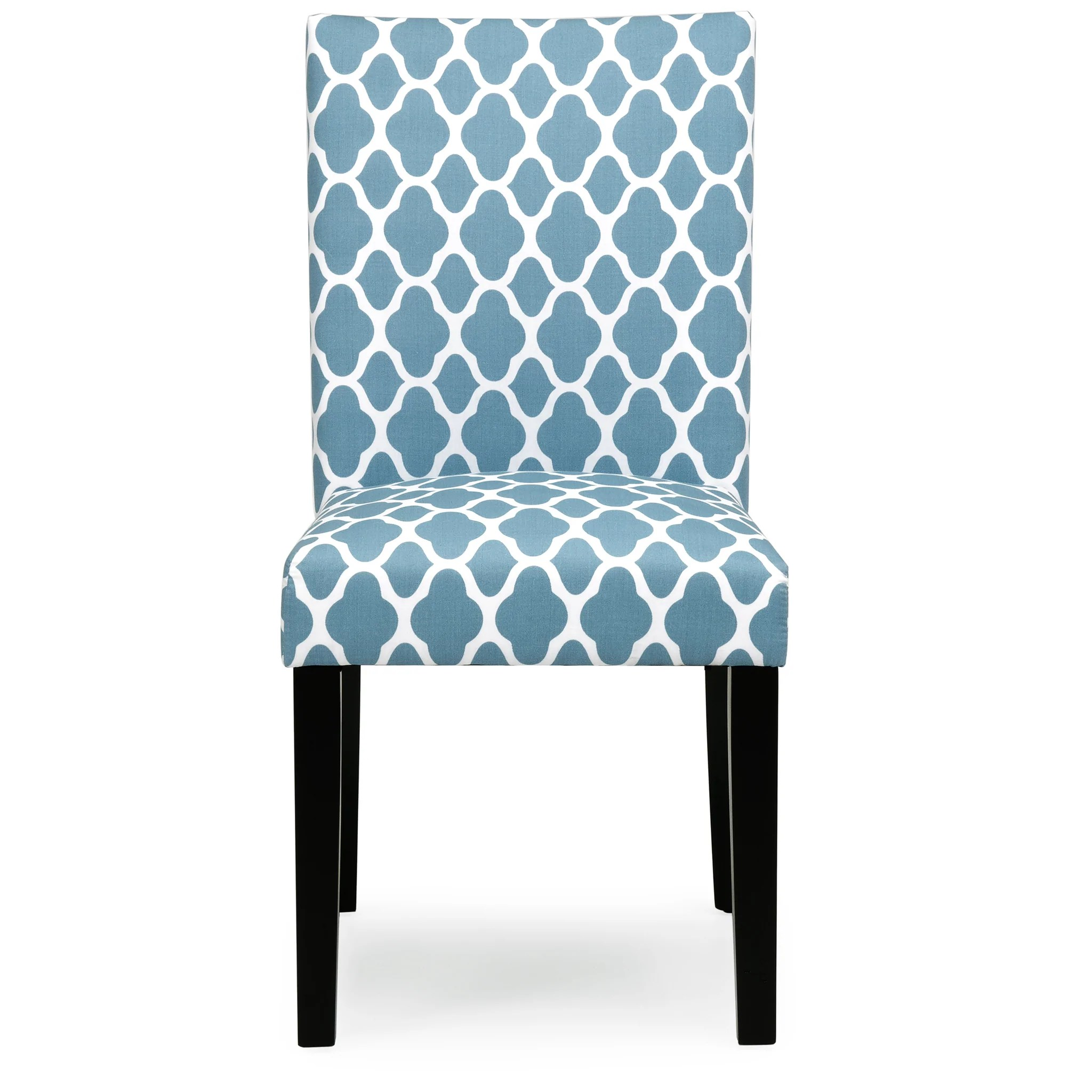 Blue Parsons Chair Set Of 2 Mid Century Fabric Parson Dining Chairs Blue