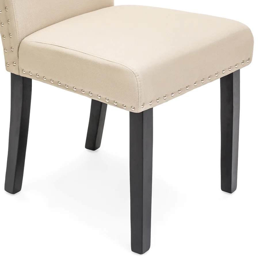 Studded Dining Chairs Set Of 2 Studded Parsons Dining Chairs Best Choice Products