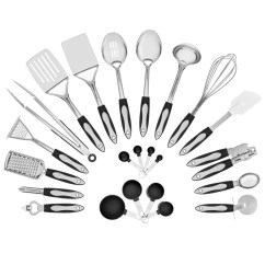 Kitchen Utensils Set Ninja System 1200 23 Piece Stainless Steel Cooking Best Choice Products
