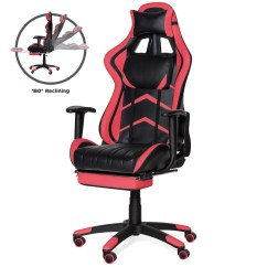 Reclining Gaming Chair Toddler Sleeper Ergonomic Swivel Office W Footrest Lumbar Sup Best Choice Products