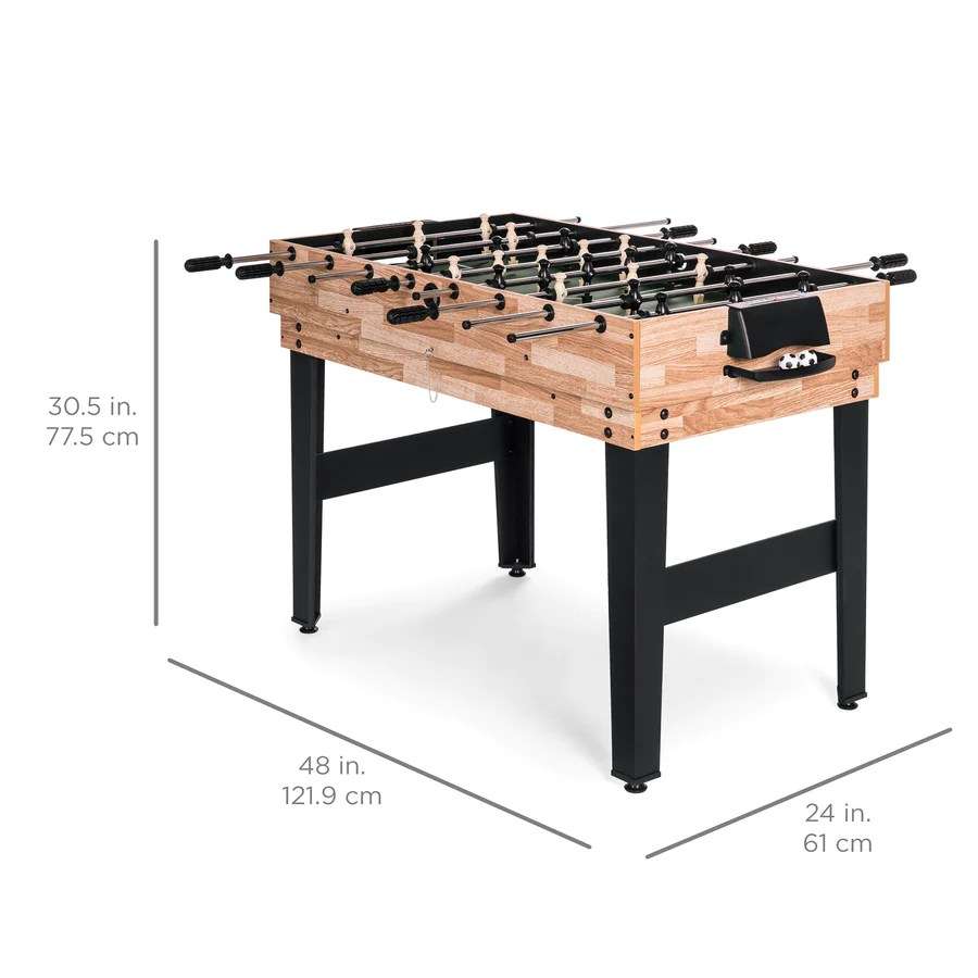 2x4ft 10-in-1 Combo Game Table Set With Billiards Foosball Ping Pong Choice Products