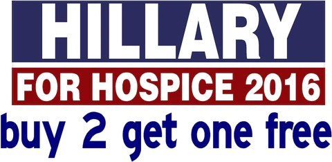 hillary for hospice bumper