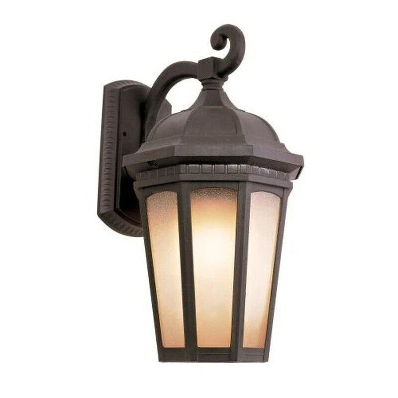 trans globe lighting pl 440151rt led one light outdoor wall mount lantern in bronze rust finish