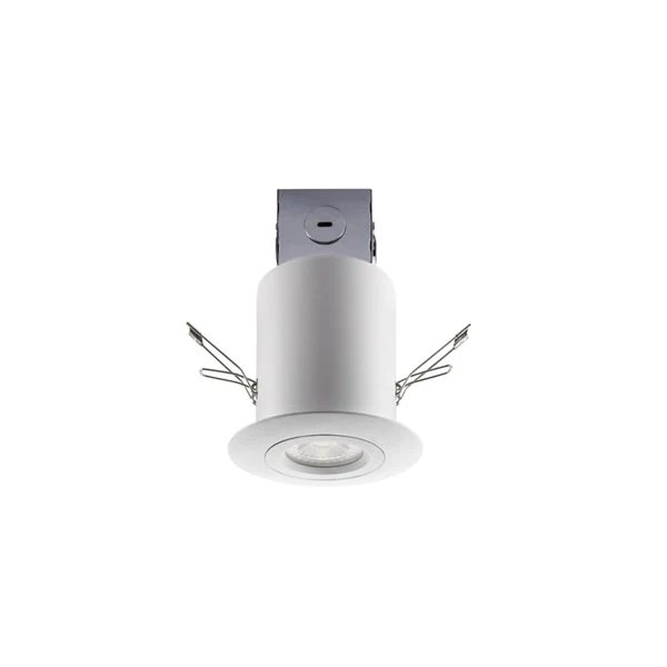 utilitech 754257 three inch integrated gimbal remodel led recessed light kit in white finish 4 pak