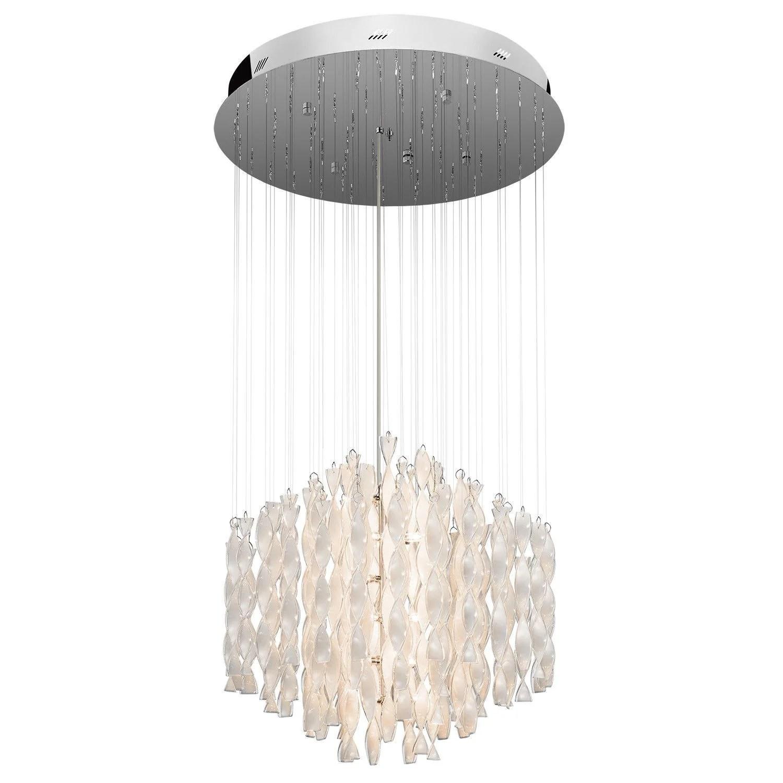 elan by kichler lighting 83107 signature collection twenty one light hanging pendant chandelier in polished chrome finish