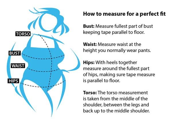 Women   size chart how to measure your body ladies plus also rh swimsuitsjustforus