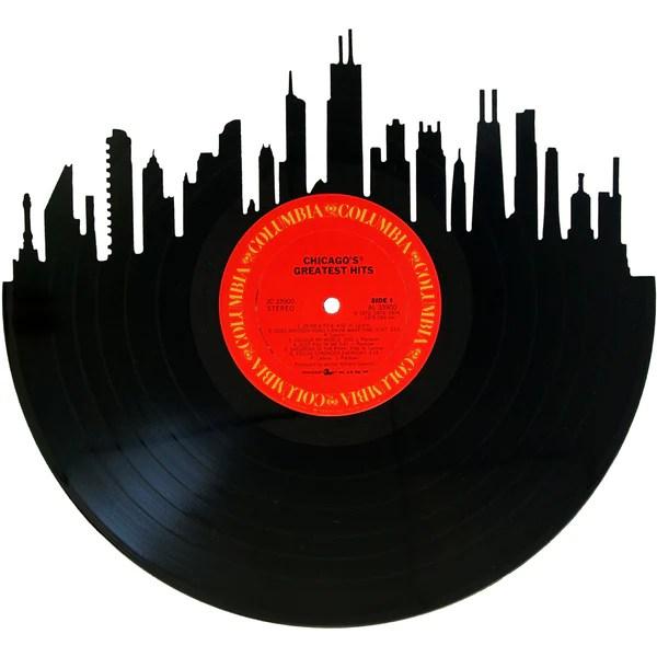 chicago skyline vinyl record