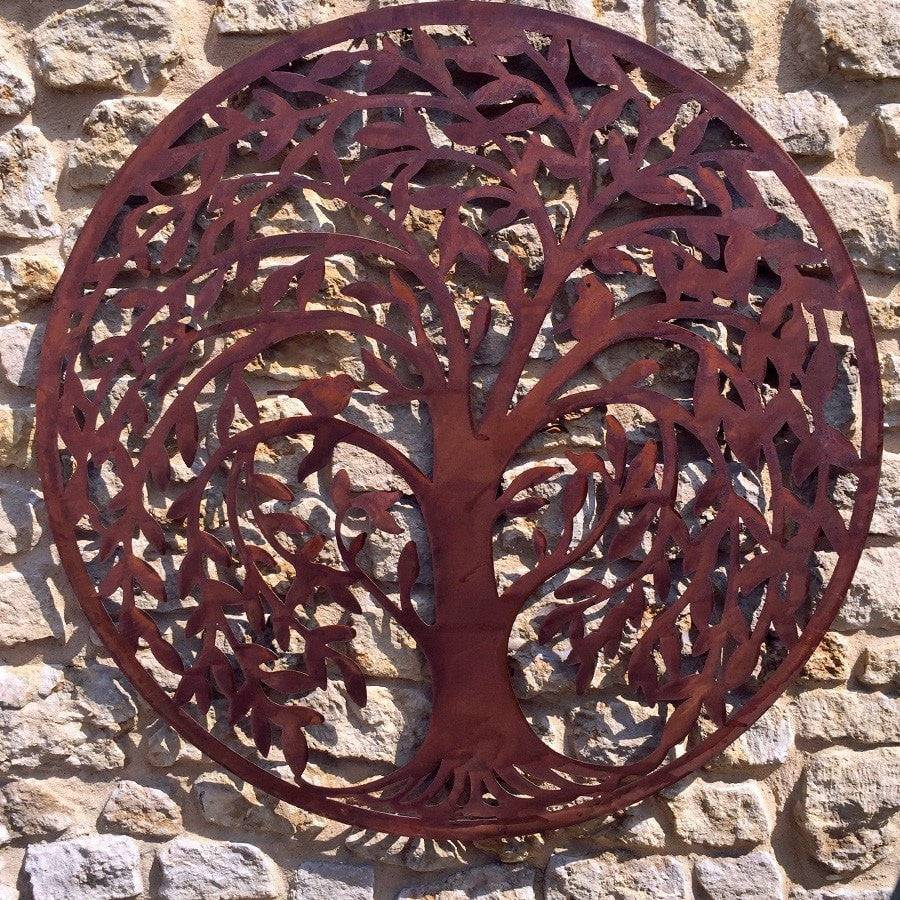 round rustic metal willow tree wall art the farthing rustic wall art