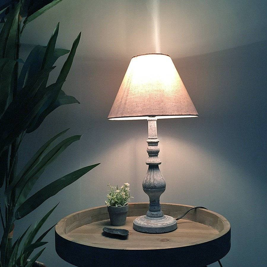 rustic wooden spindle table lamp shade