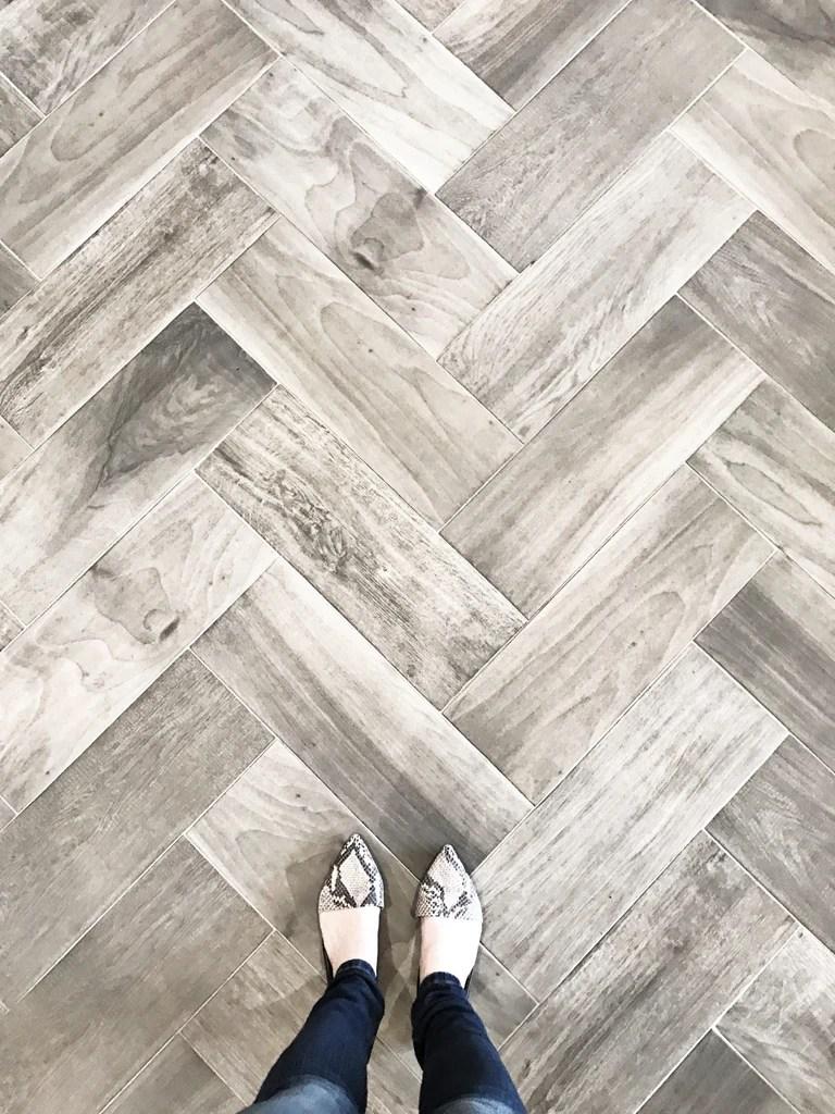 our favorite wood look tile greige design