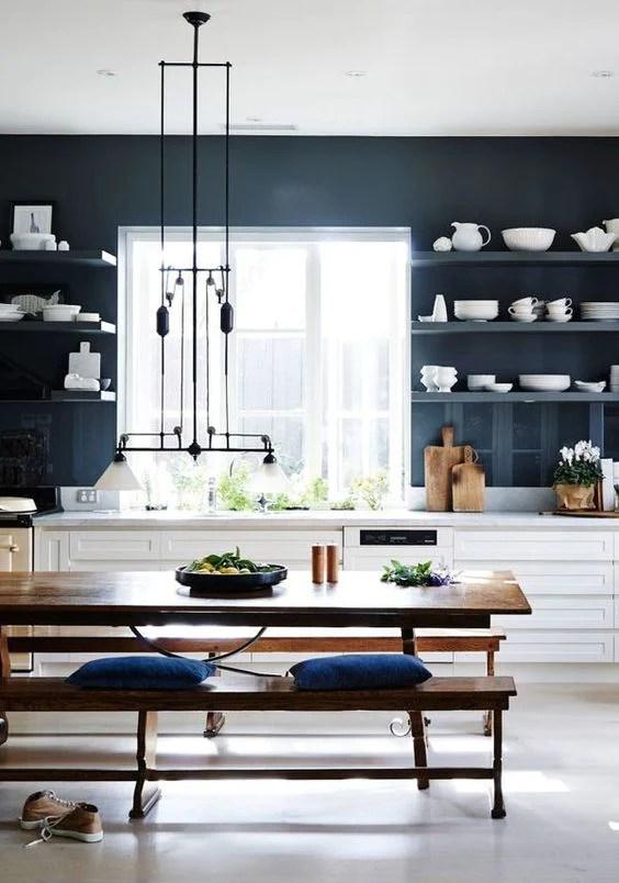 Kitchen in Blue  greige design