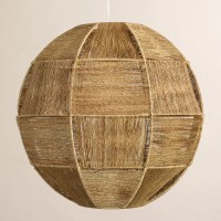 Currently: Woven Bamboo Pendant lights  Greige Design