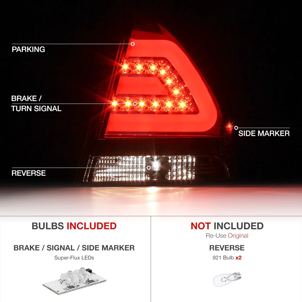 hight resolution of  2006 2013 chevrolet impala smoked tail light