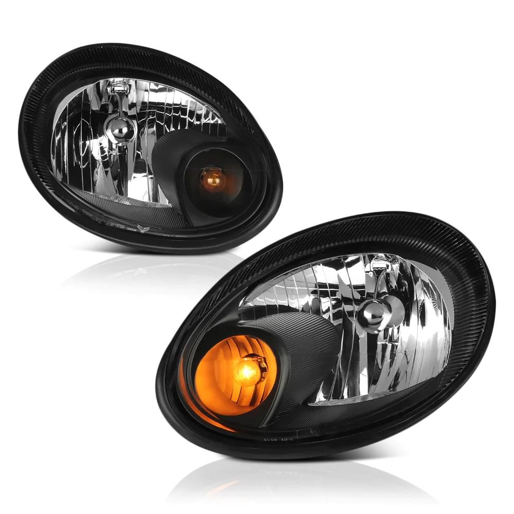 hight resolution of  2003 2005 dodge neon black headlight