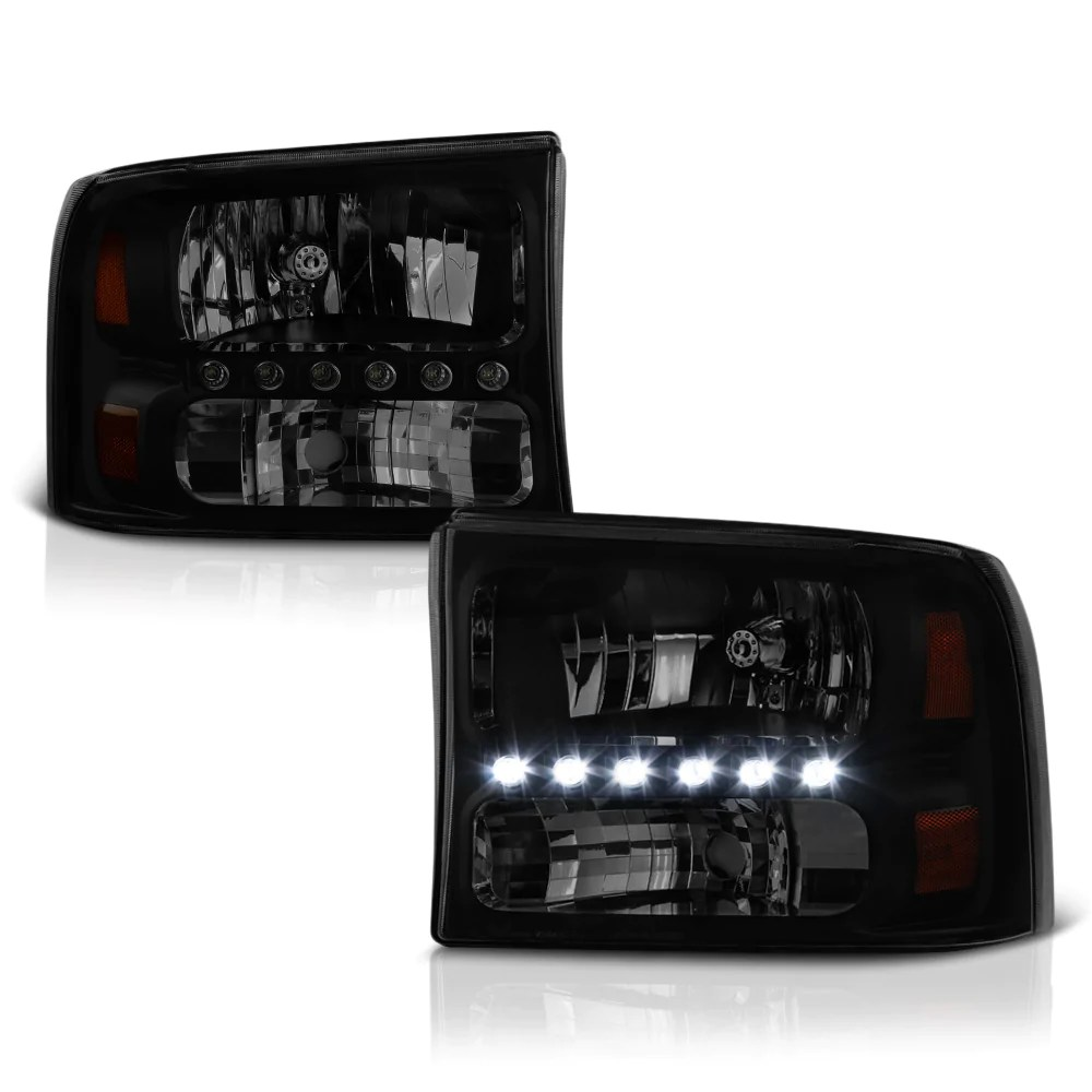 small resolution of sinister black led headlights 1999 2004 ford f 250 f 350 superduty sinister black headlight