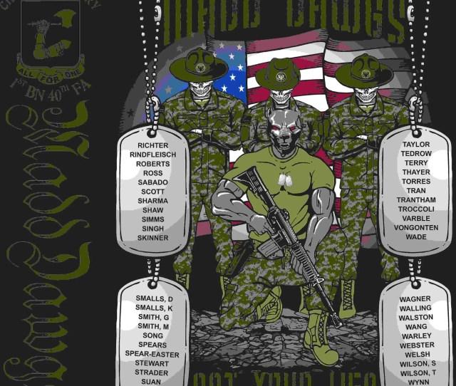 Platoon Shirts Digital Charlie 1st 40th Madd Dawgs Feb 2016