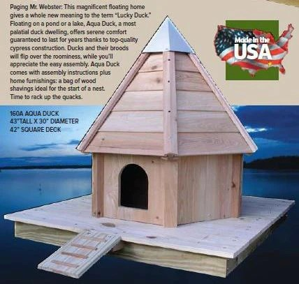 AquaDuck  Floating Duck House by Heartwood  The Birdhouse Chick