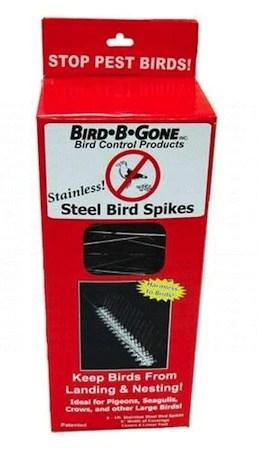 Brush B Gone : brush, Bird-B-Gone, Stainless, Steel, Spikes, Inhibit, Roosting, Nuisance, Birds, Birdhouse, Chick