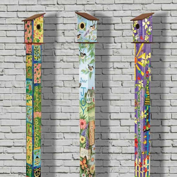 Art Vinyl Birdhouse 6 Ft Post Art Pole Bird Houses Fun