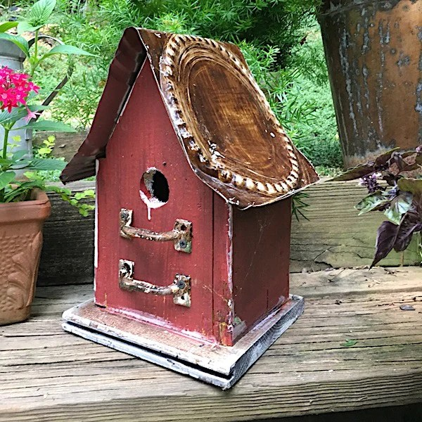 Barn Wood Tin Birdhouses  Rustic Birdhouse  Unique Bird House Gift  The Birdhouse Chick