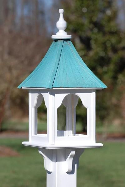 Copper Roof Bird Feeder  Vinyl Bird Feeders  Post Mount