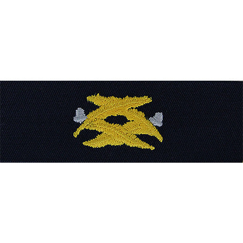 Navy Civil Engineer Embroidered Collar Device  USAMM