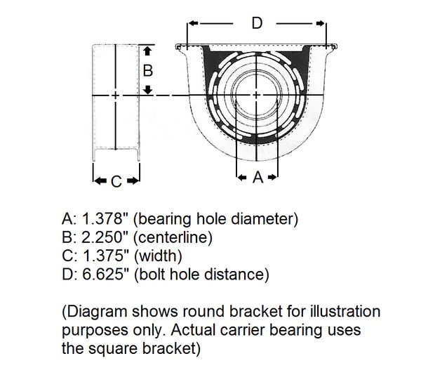 Chevrolet S10 Carrier Bearing | ProShaft, LLC