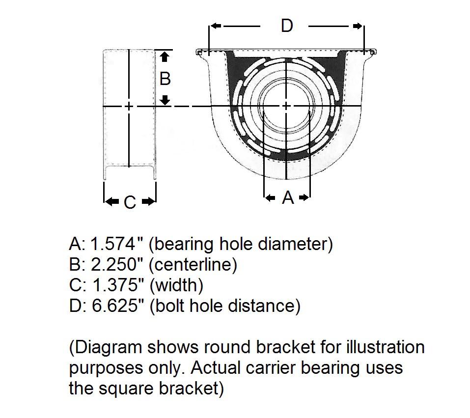 2005 dodge ram 3500 carrier bearing [ 957 x 851 Pixel ]
