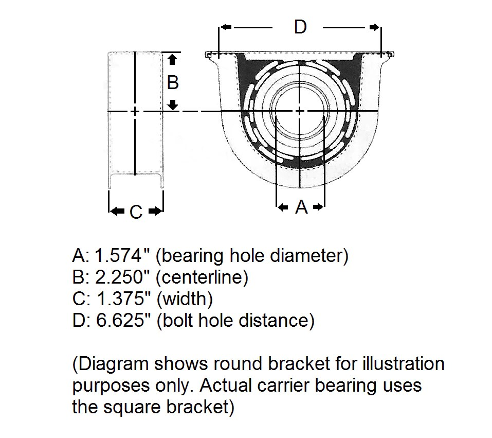 medium resolution of 2005 dodge ram 3500 carrier bearing