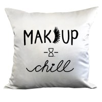 MAKEUP & CHILL DECORATIVE PILLOW  TIME LOS ANGELES